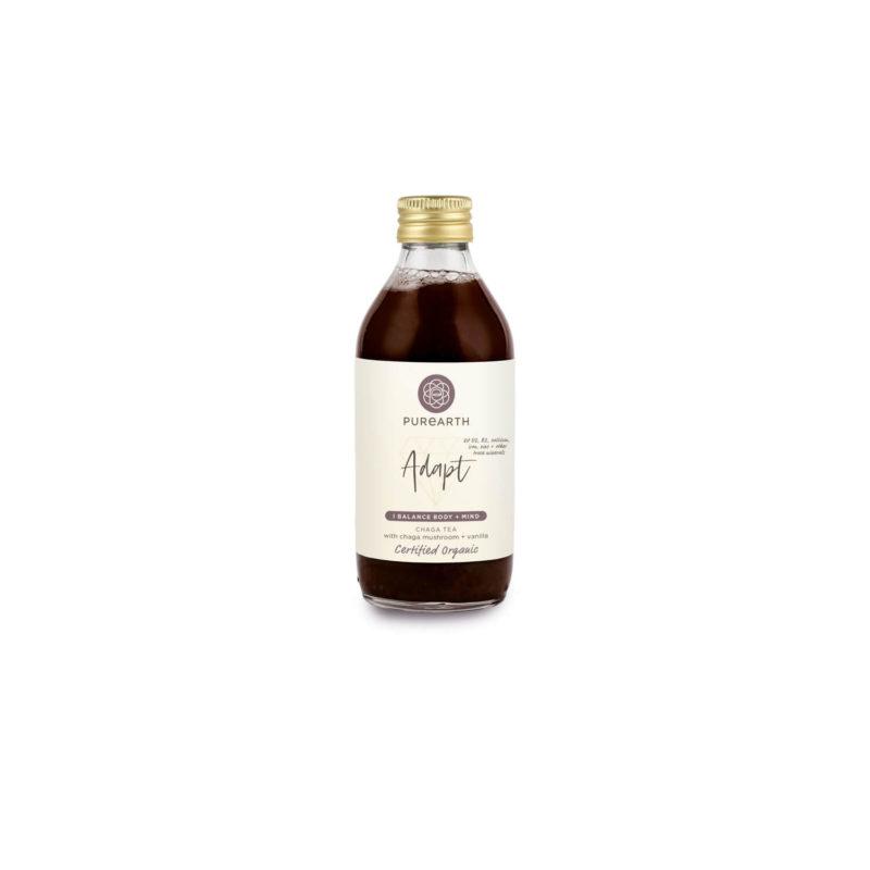 Bottle of Purearth Adapt Chaga Tea